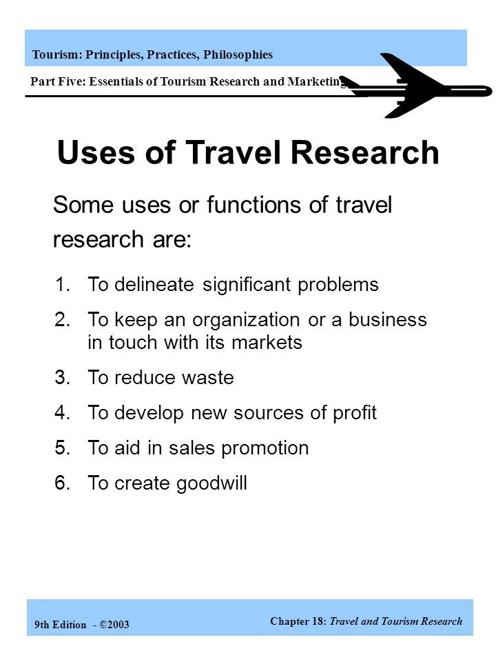 Uses of Travel Research