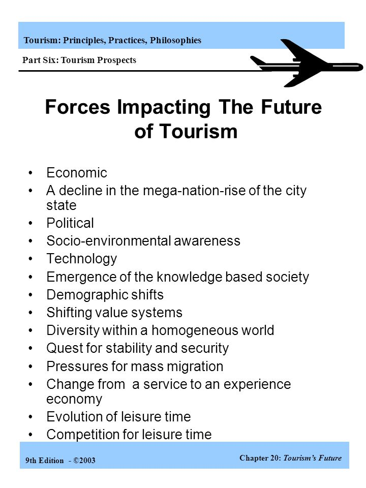 Forces Impacting The Future of Tourism