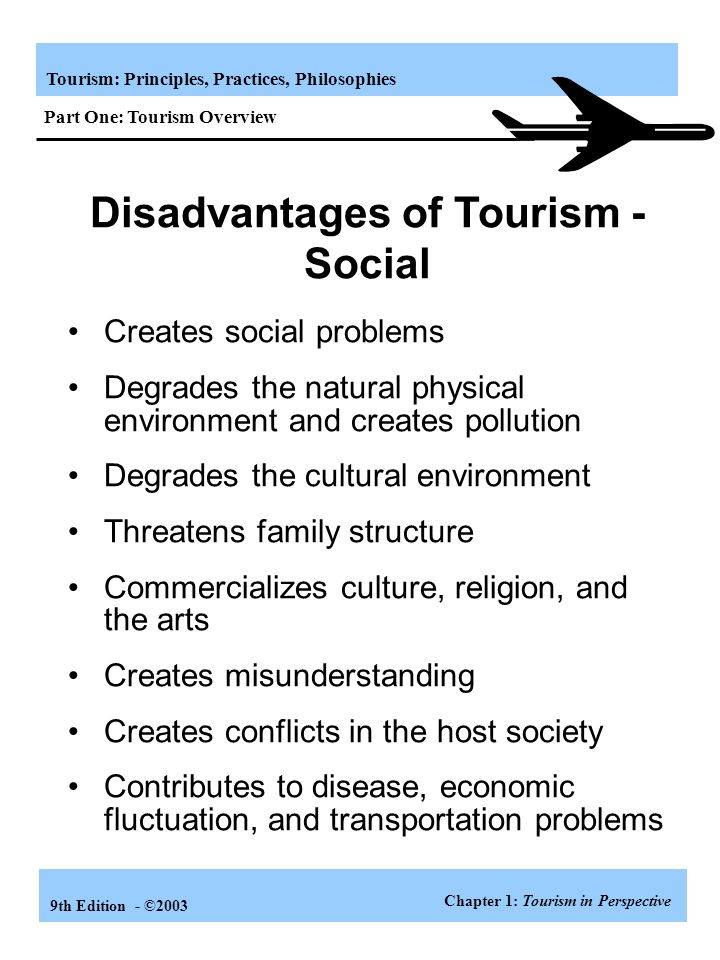 Disadvantages of Tourism - Social