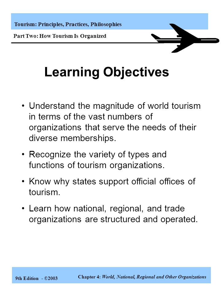 Part Two: How Tourism Is Organized