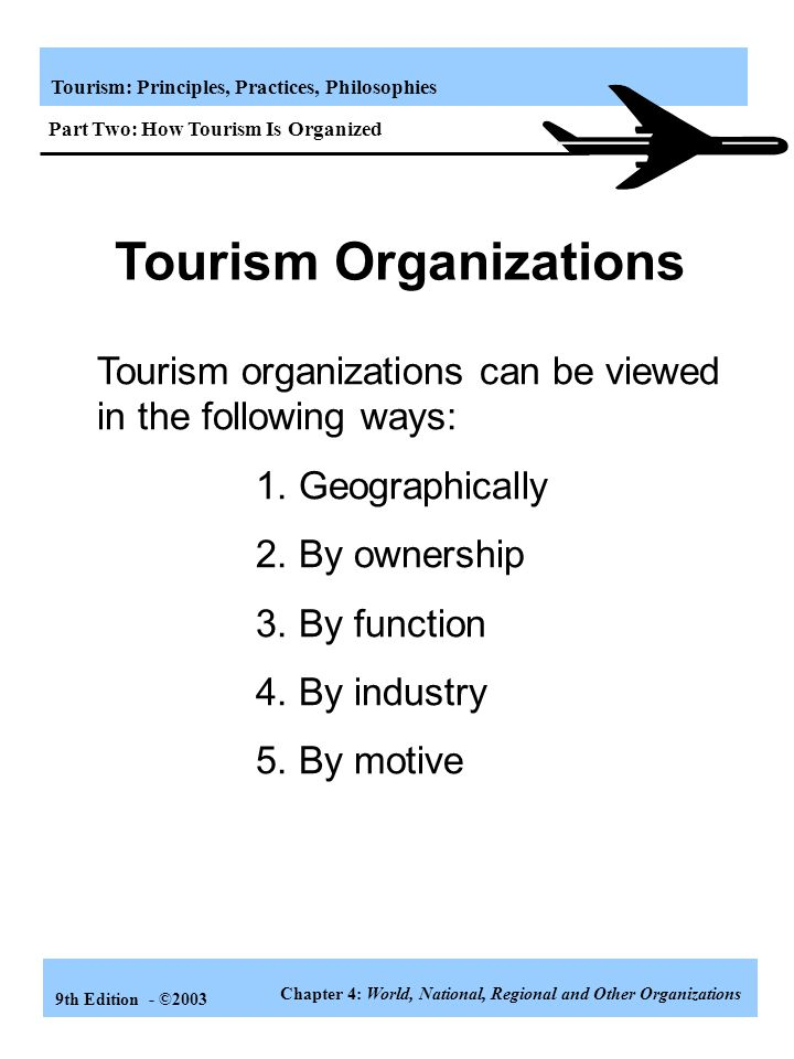Tourism Organizations
