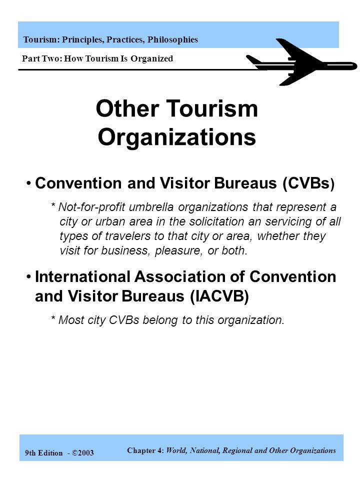 Other Tourism Organizations
