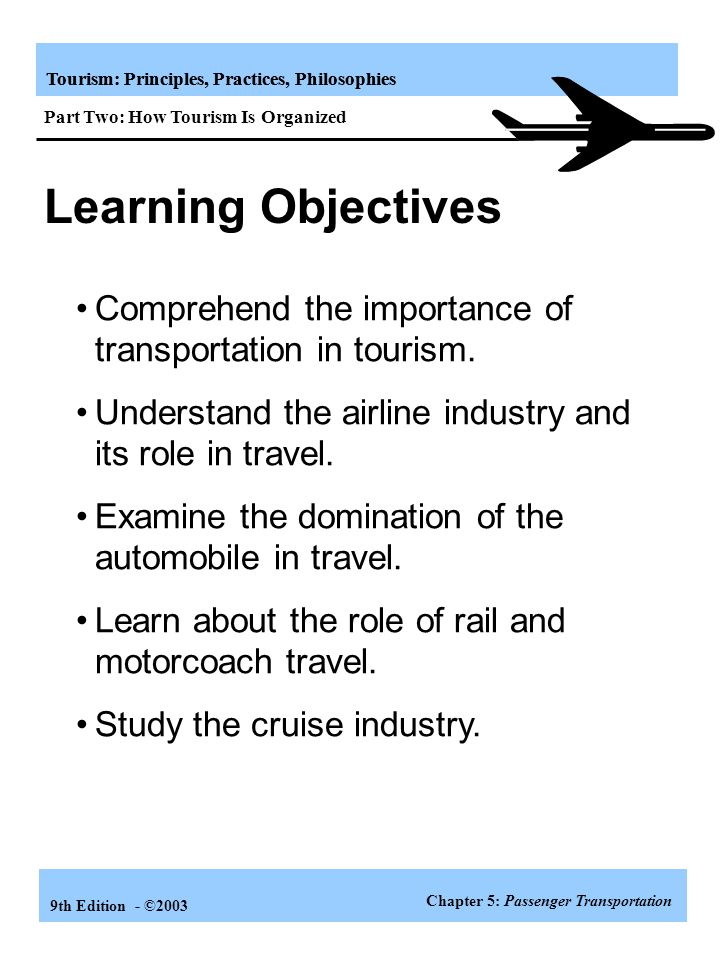 the role of transportation in tourism industry pdf
