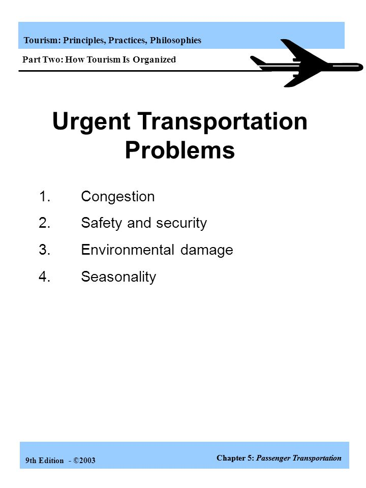 Urgent Transportation Problems