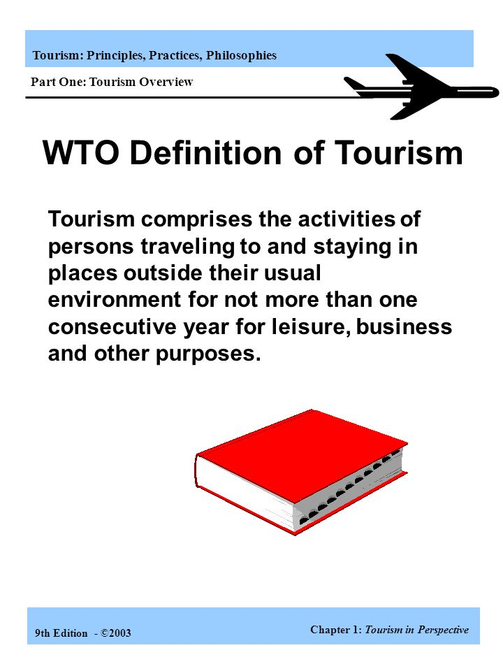 WTO Definition of Tourism