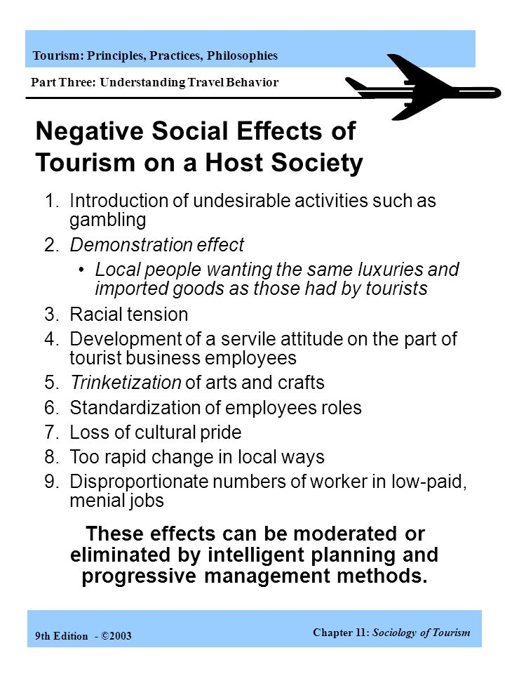 Negative Social Effects of Tourism on a Host Society
