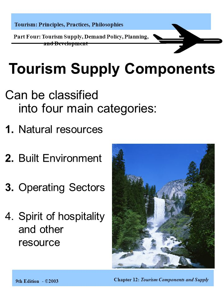 Tourism Supply Components