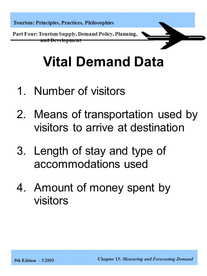 Vital Demand Data 1. Number of visitors