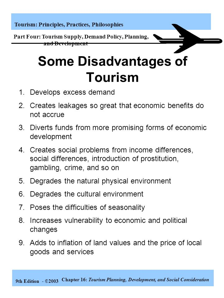 Some Disadvantages of Tourism