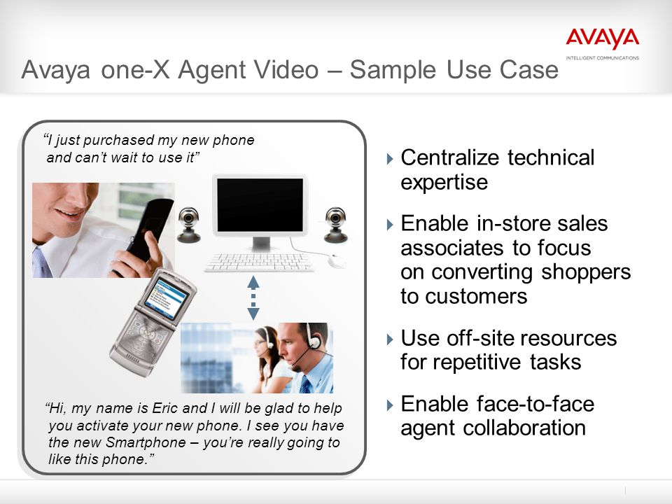 Avaya one-X Agent Video – Sample Use Case