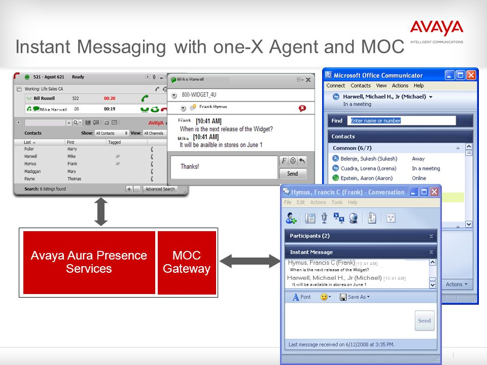Instant Messaging with one-X Agent and MOC