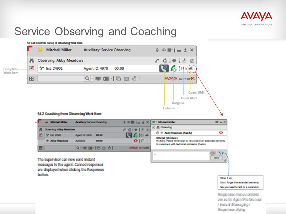 Service Observing and Coaching