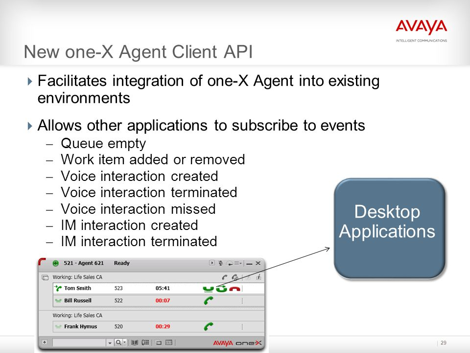 New one-X Agent Client API
