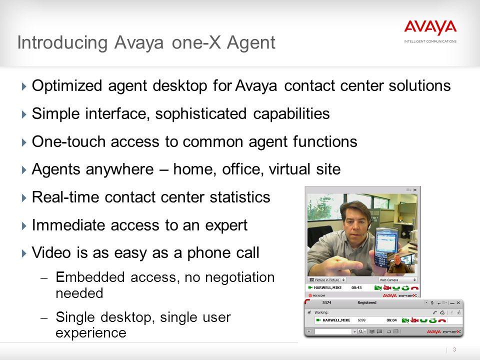 Introducing Avaya one-X Agent