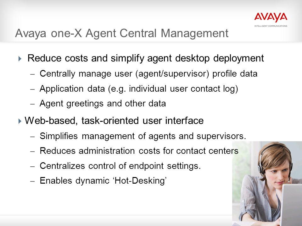 Avaya one-X Agent Central Management