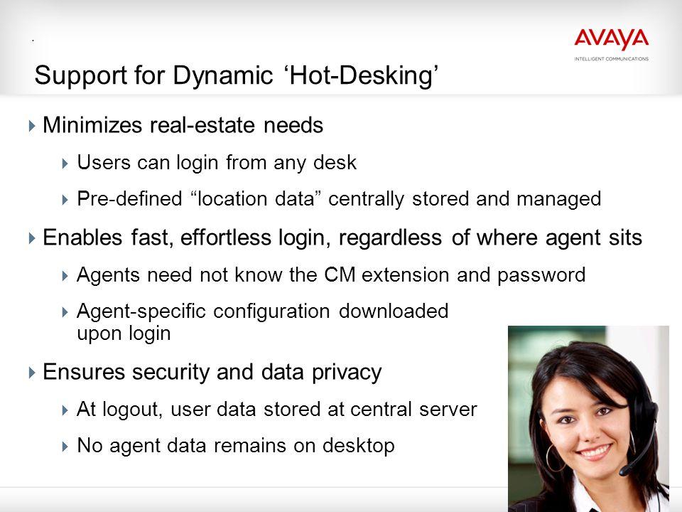 Support for Dynamic 'Hot-Desking'
