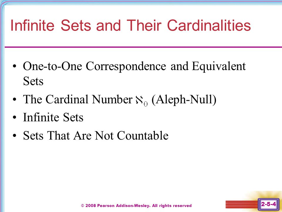Infinite Sets and Their Cardinalities