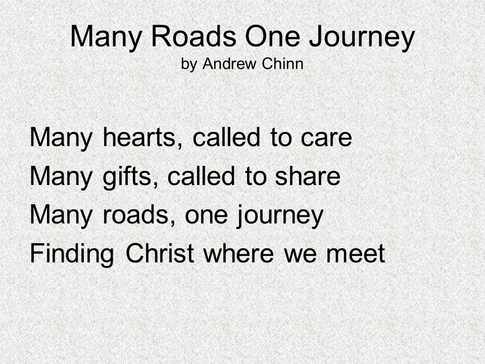 Many Roads One Journey by Andrew Chinn