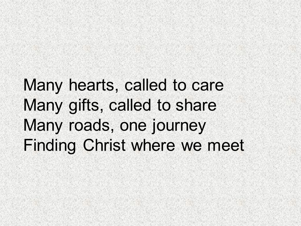 Many hearts, called to care