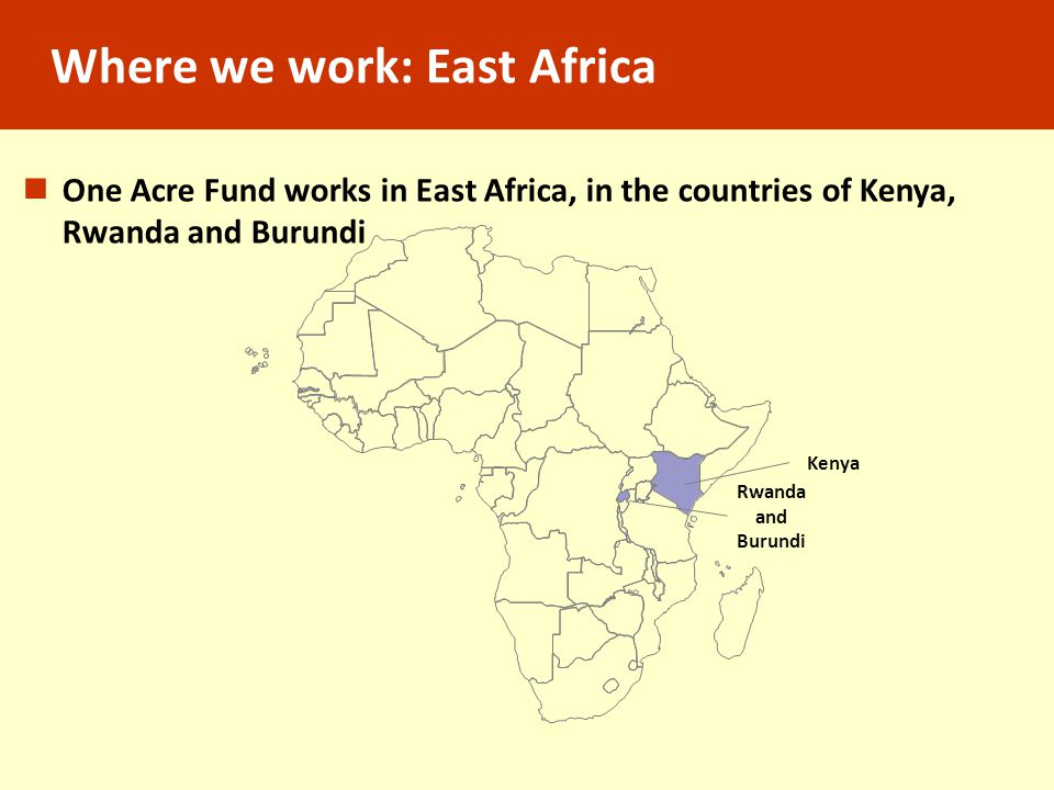 Where we work: East Africa