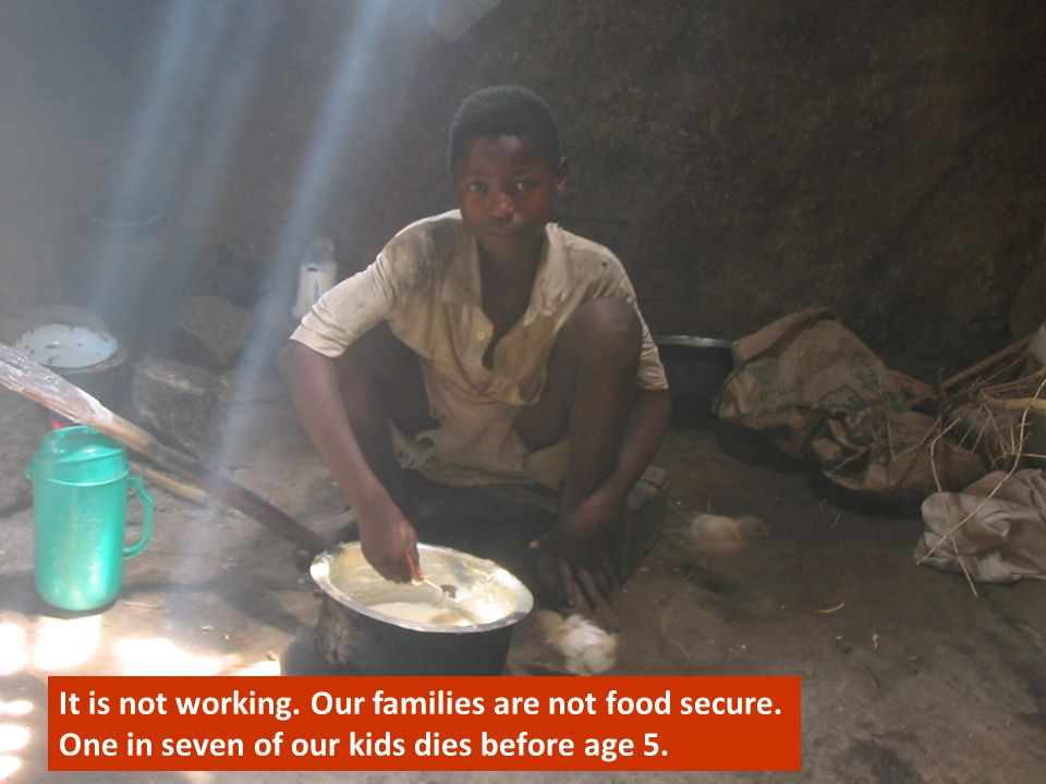 It is not working. Our families are not food secure.