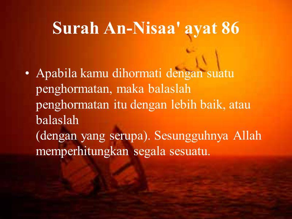 Surah An-Nisaa ayat 86