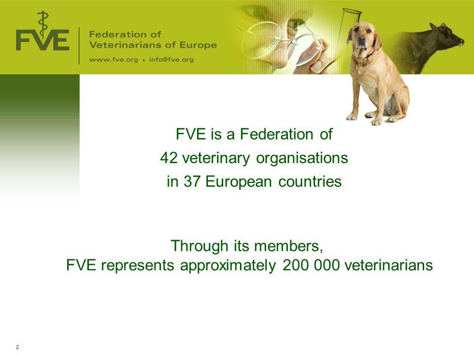 42 veterinary organisations in 37 European countries