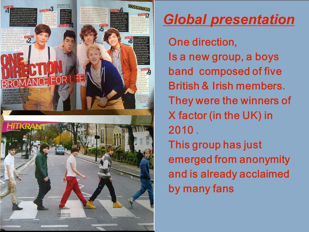 Global presentation One direction,