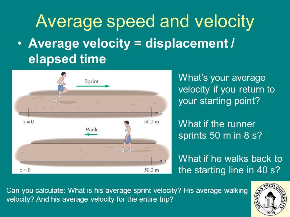 Average speed and velocity