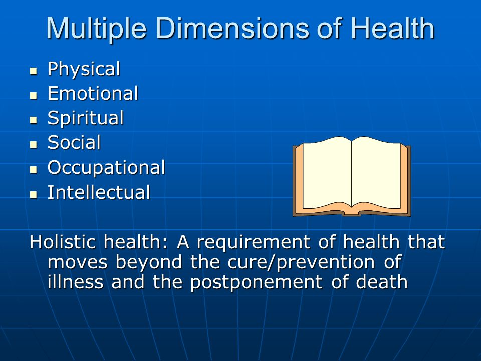 Multiple Dimensions of Health