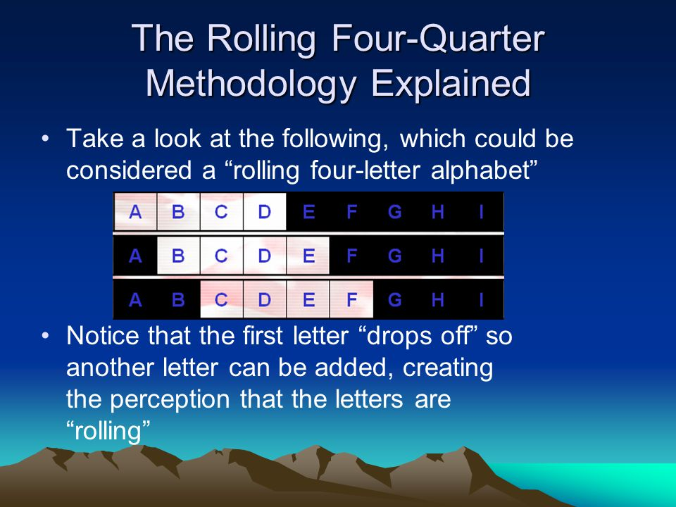 The Rolling Four-Quarter Methodology Explained