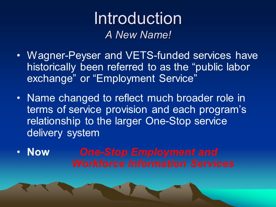 Introduction A New Name!