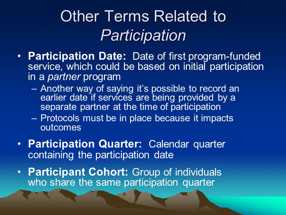 Other Terms Related to Participation