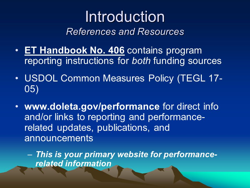 Introduction References and Resources