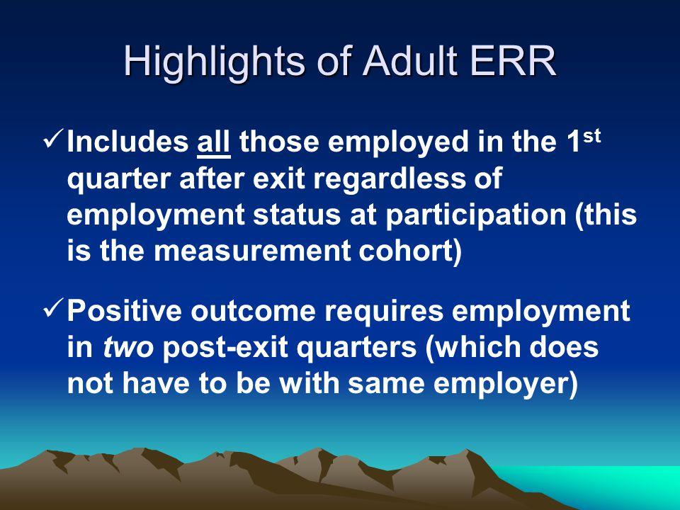 Highlights of Adult ERR