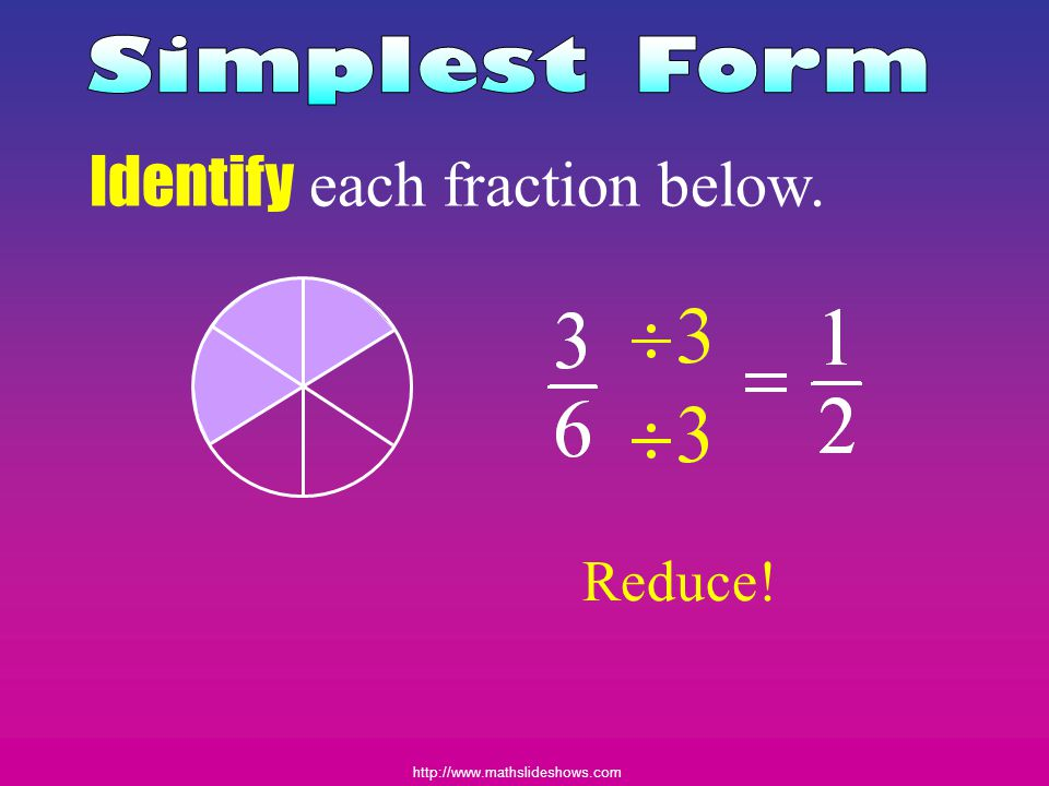 Identify each fraction below.