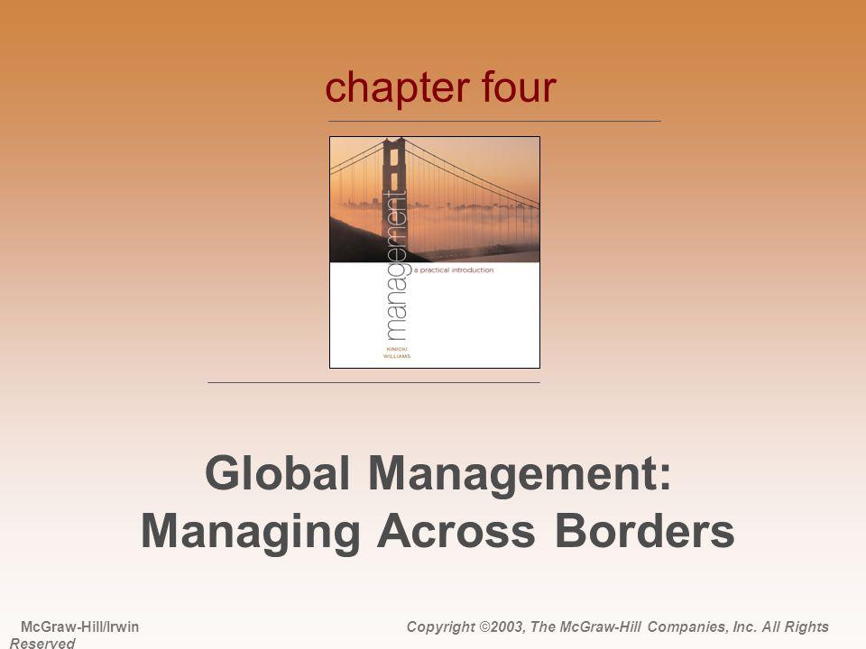 Global Management: Managing Across Borders