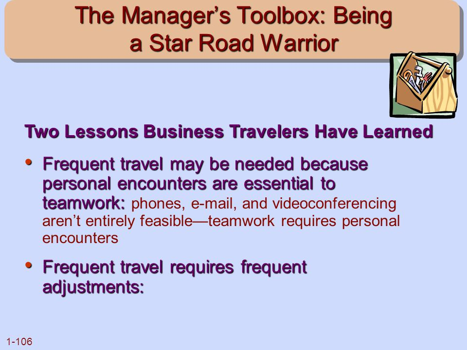 The Manager's Toolbox: Being a Star Road Warrior