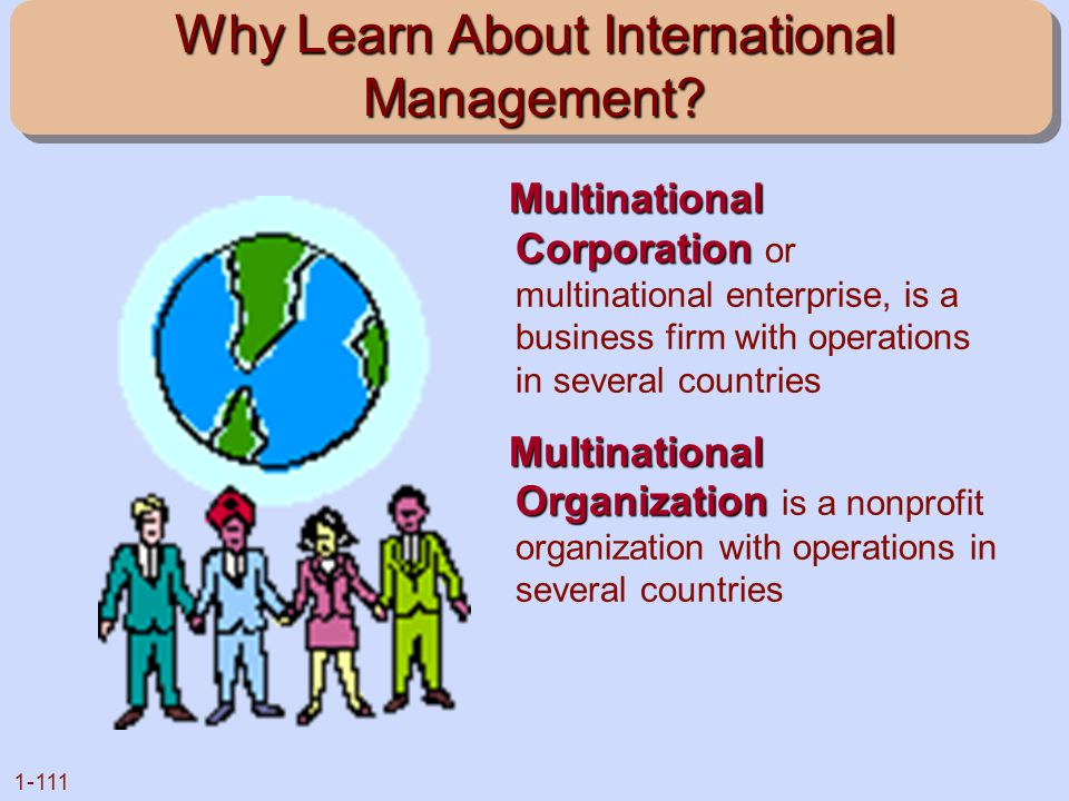 Why Learn About International Management