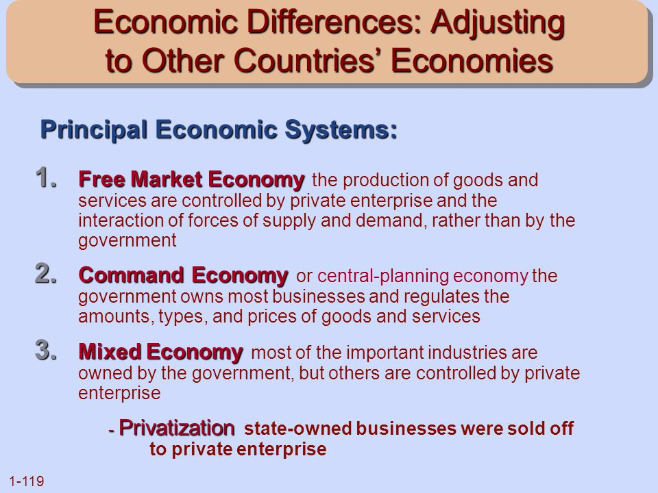 Economic Differences: Adjusting to Other Countries' Economies