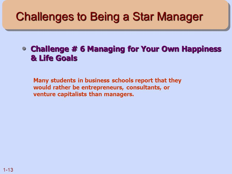 Challenges to Being a Star Manager