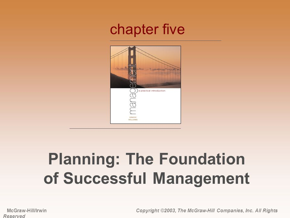 Planning: The Foundation of Successful Management