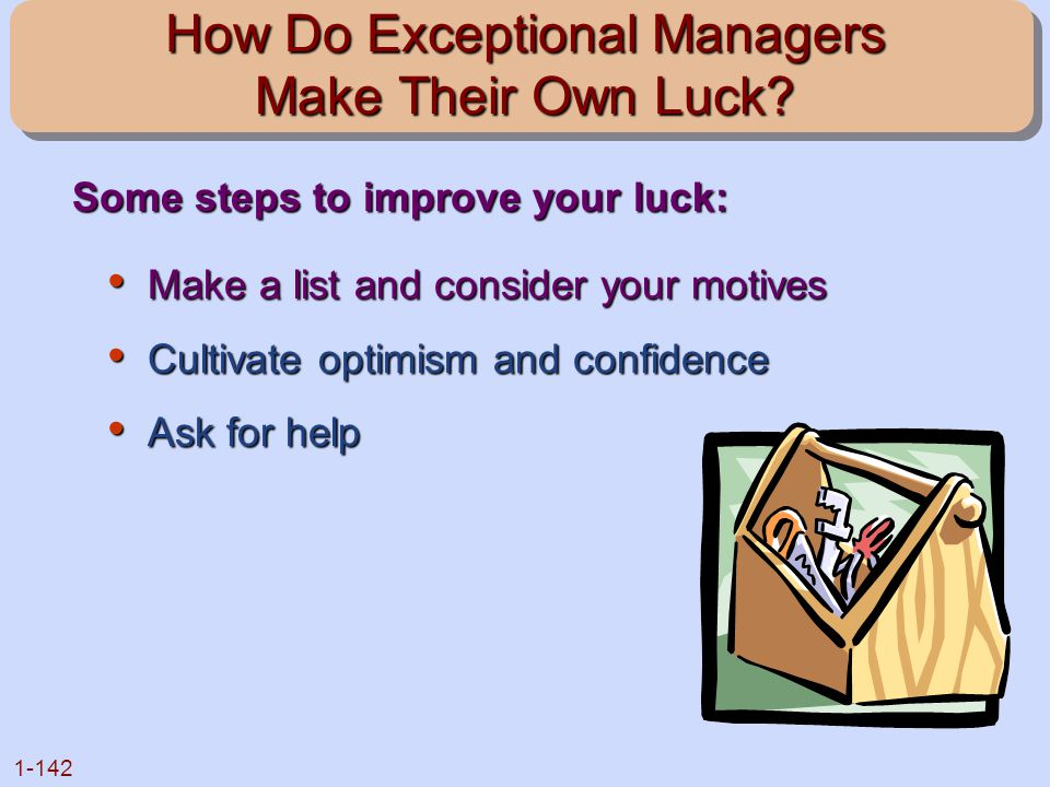 How Do Exceptional Managers Make Their Own Luck