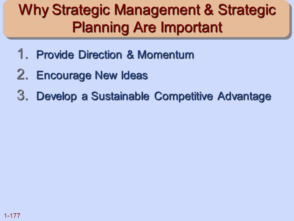 Why Strategic Management & Strategic Planning Are Important