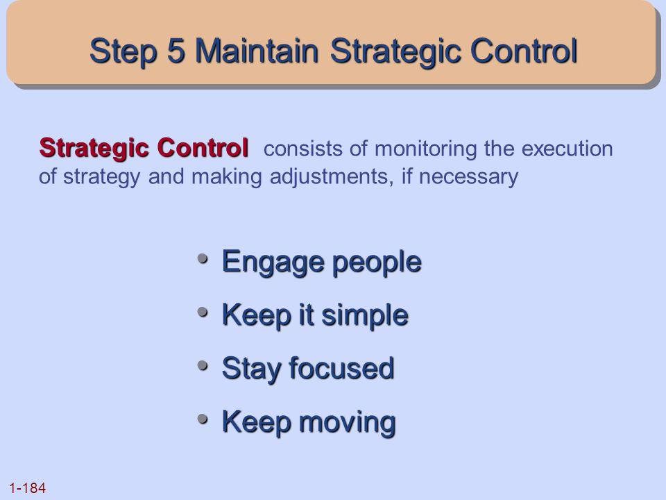 Step 5 Maintain Strategic Control