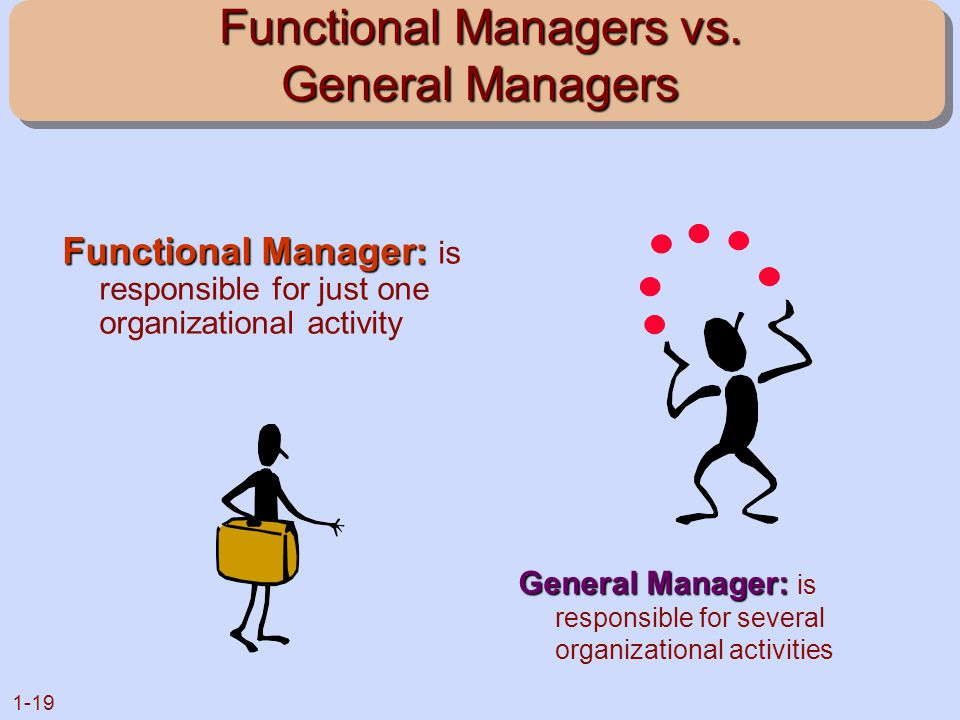 Functional Managers vs. General Managers