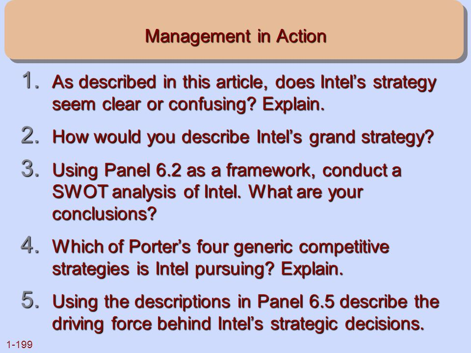 Management in Action As described in this article, does Intel's strategy seem clear or confusing Explain.