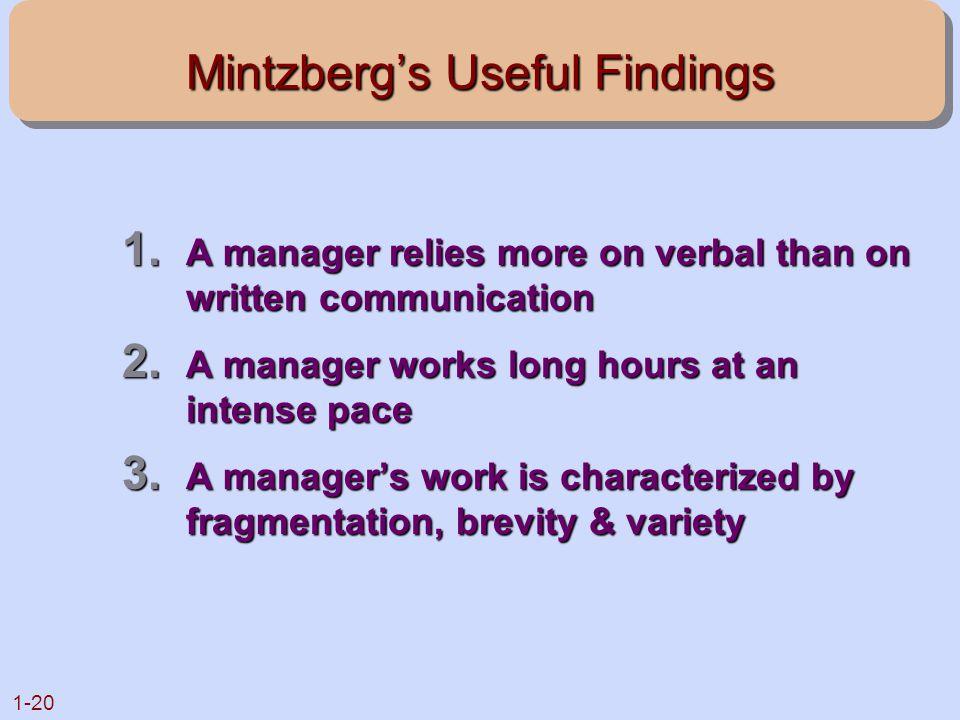 Mintzberg's Useful Findings