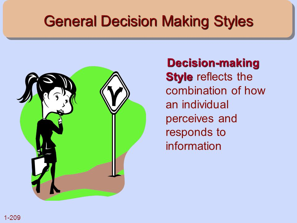 General Decision Making Styles