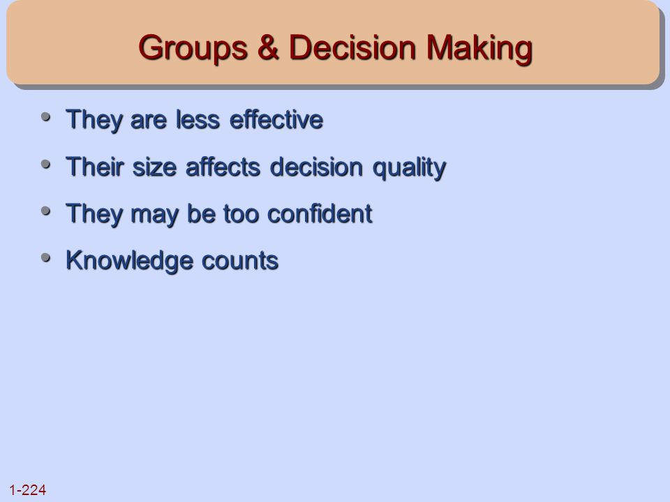 Groups & Decision Making